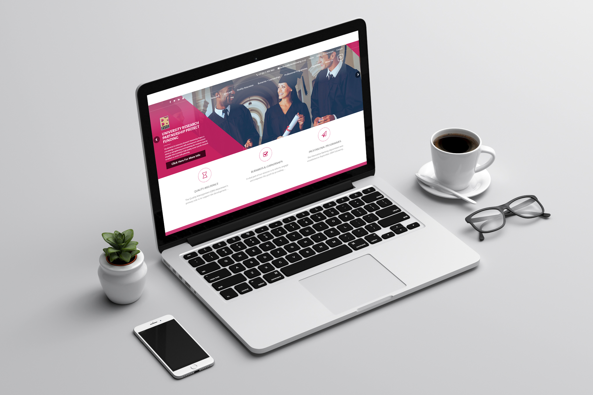 BANKSETA-Website-on-laptop