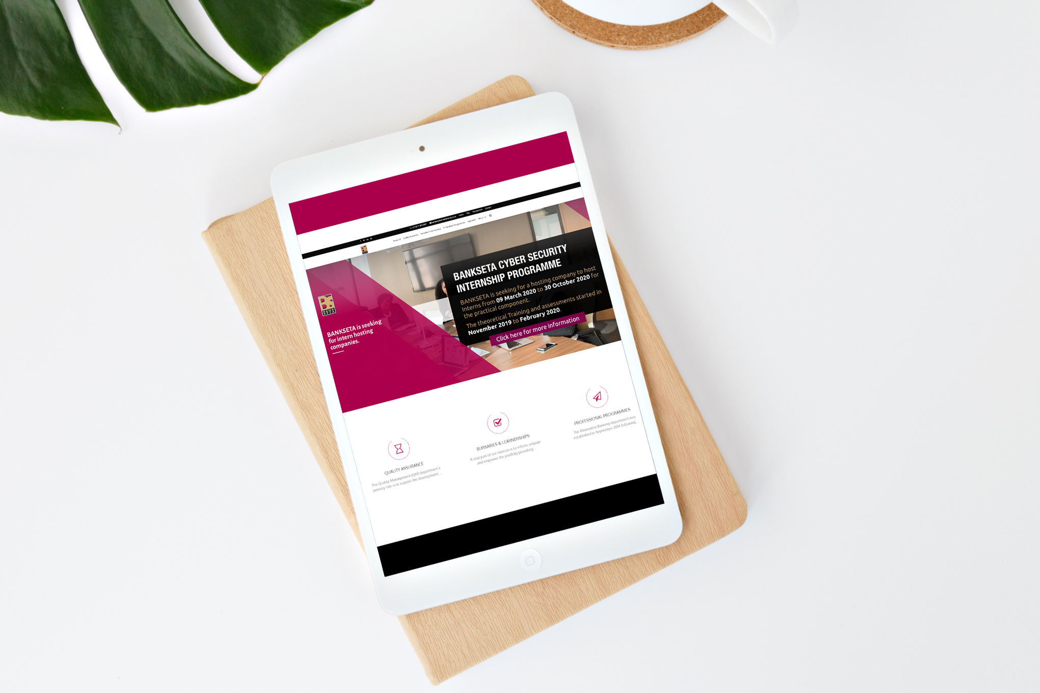 BANKSETA-Website-on-tablet