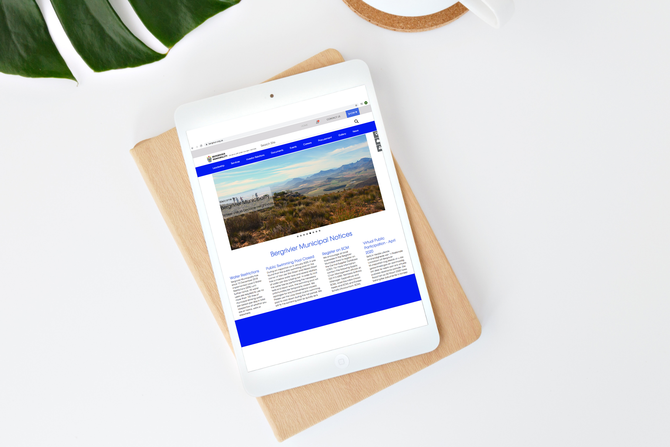 Bergrivier-Municipality-Website-on-tablet