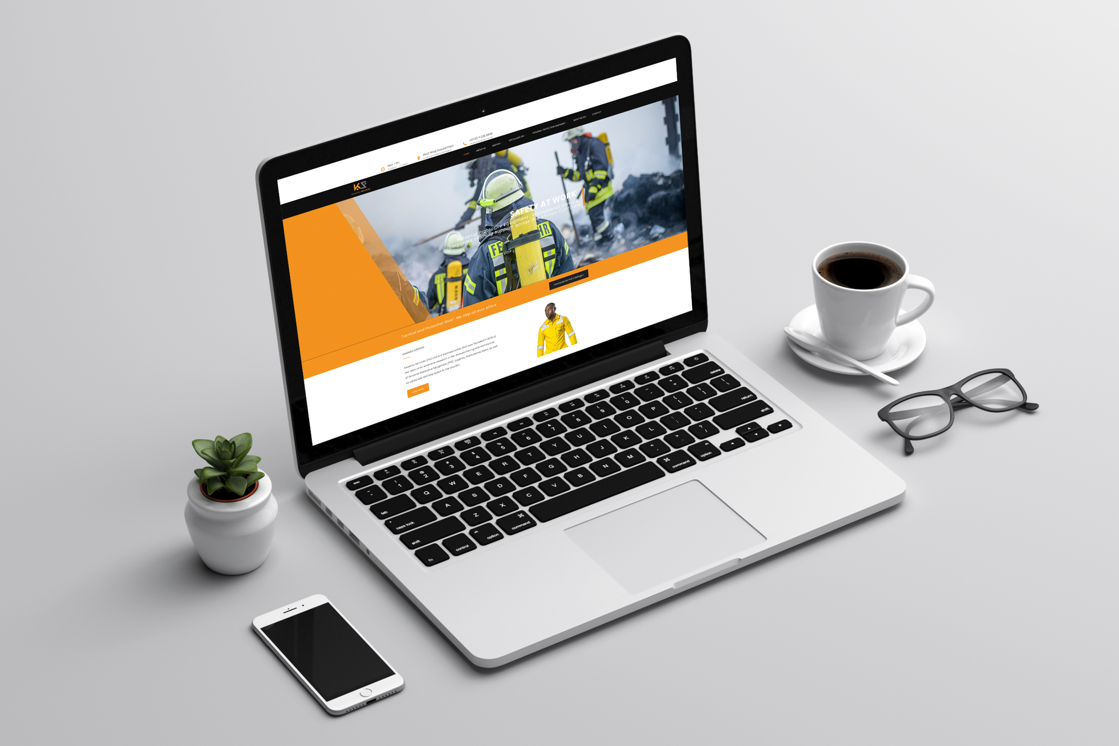Kwaniso-Services-Website-on-laptop