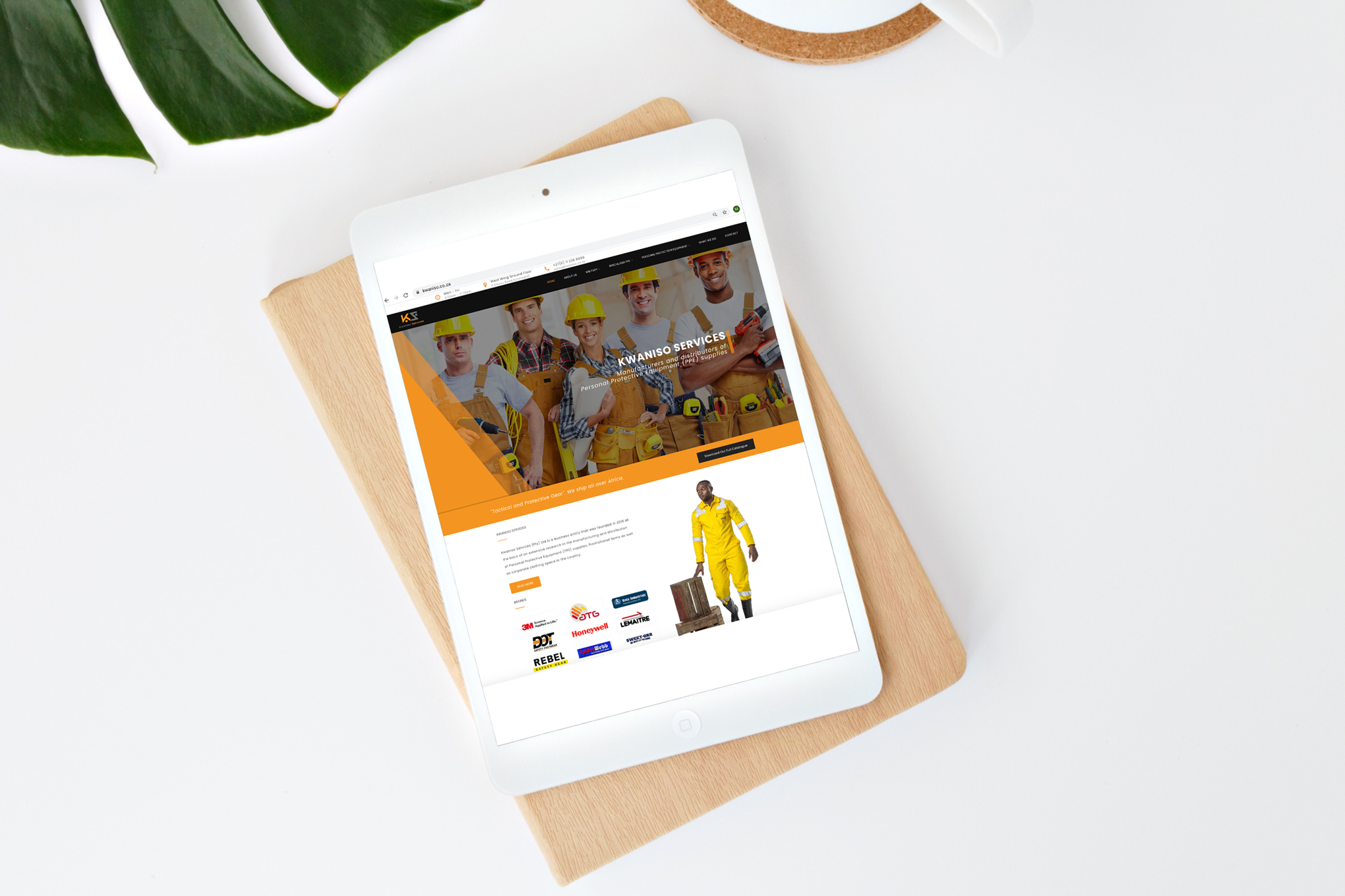 Kwaniso-Services-Website-on-tablet