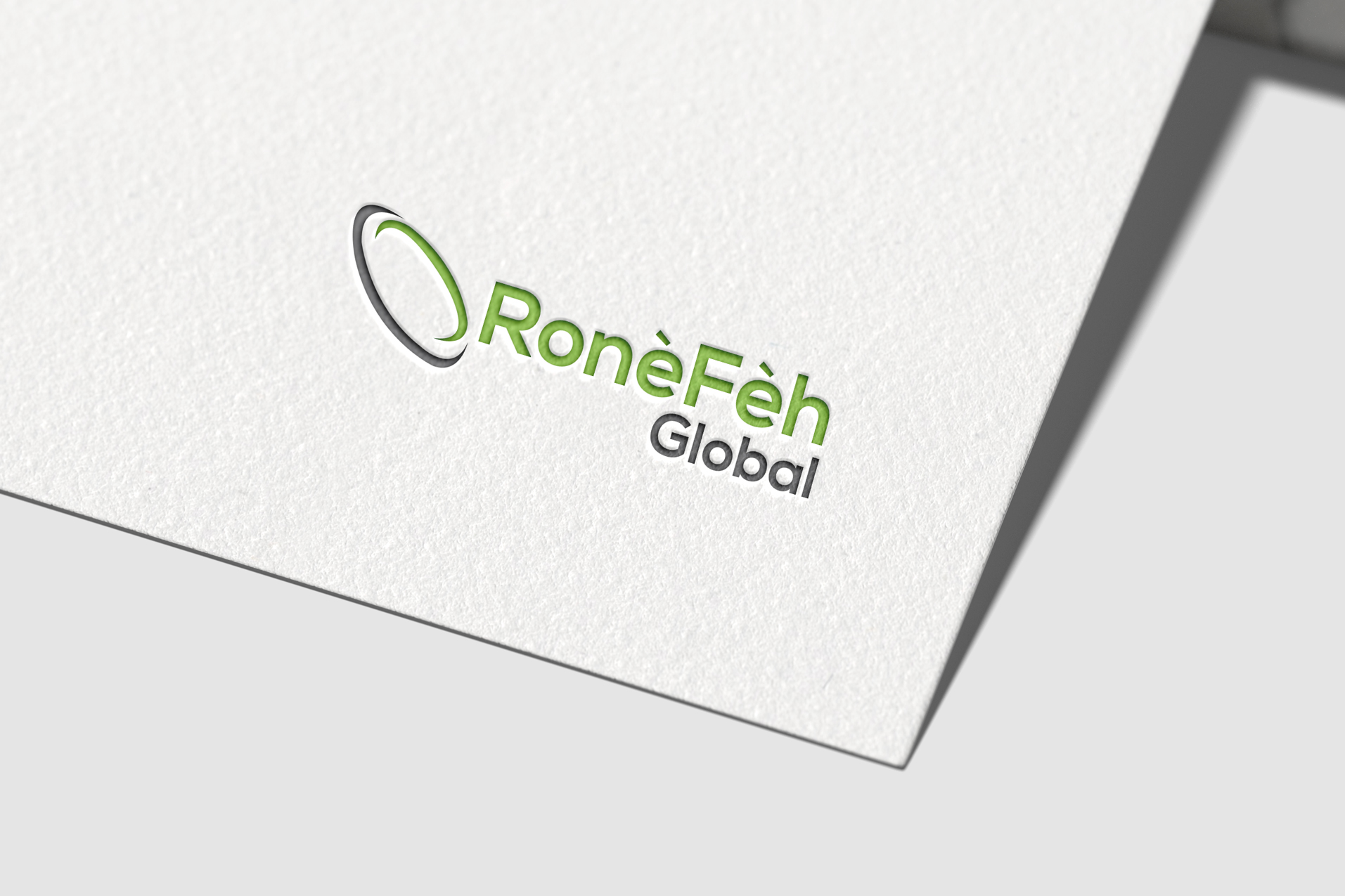 Ronefeh-Global-logo on paper