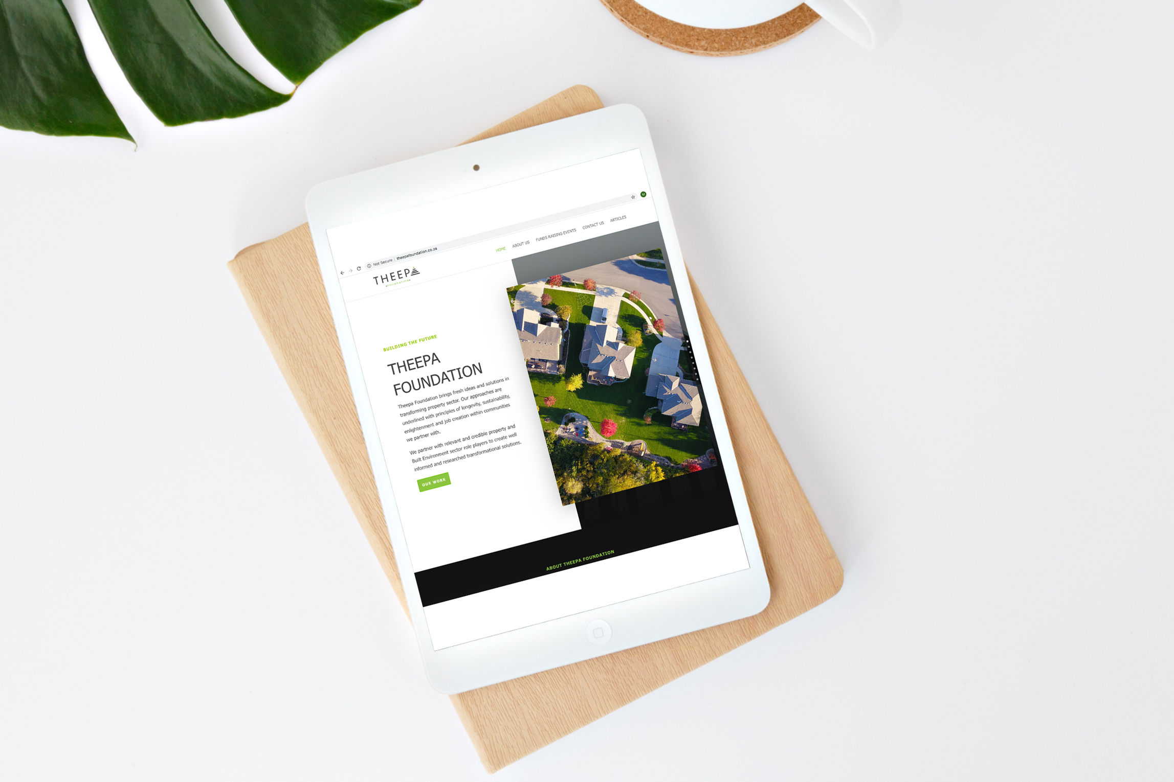 Theepa-Foundation-Website-on-tablet