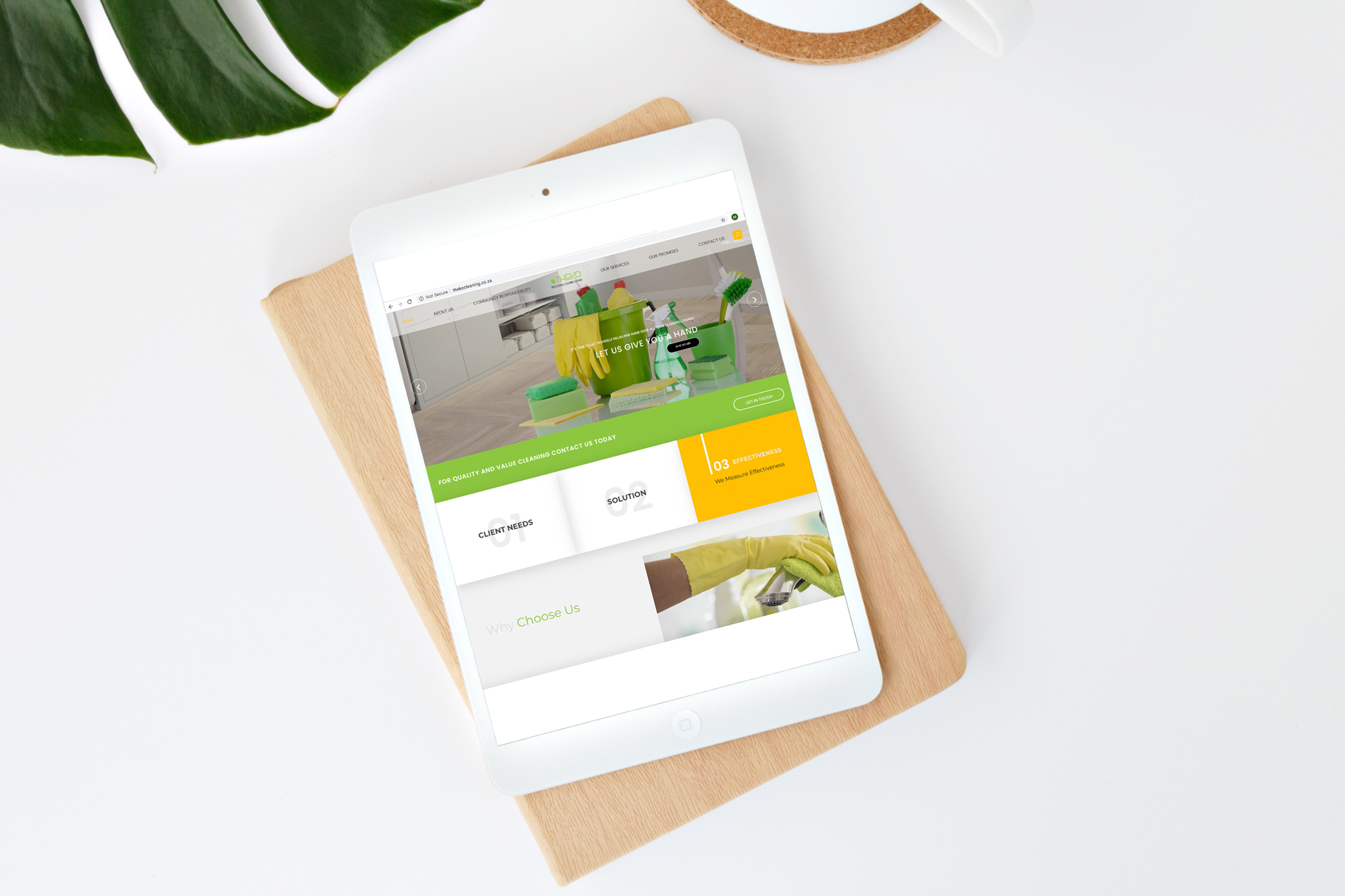 Theko-Cleaning-Website-on-tablet