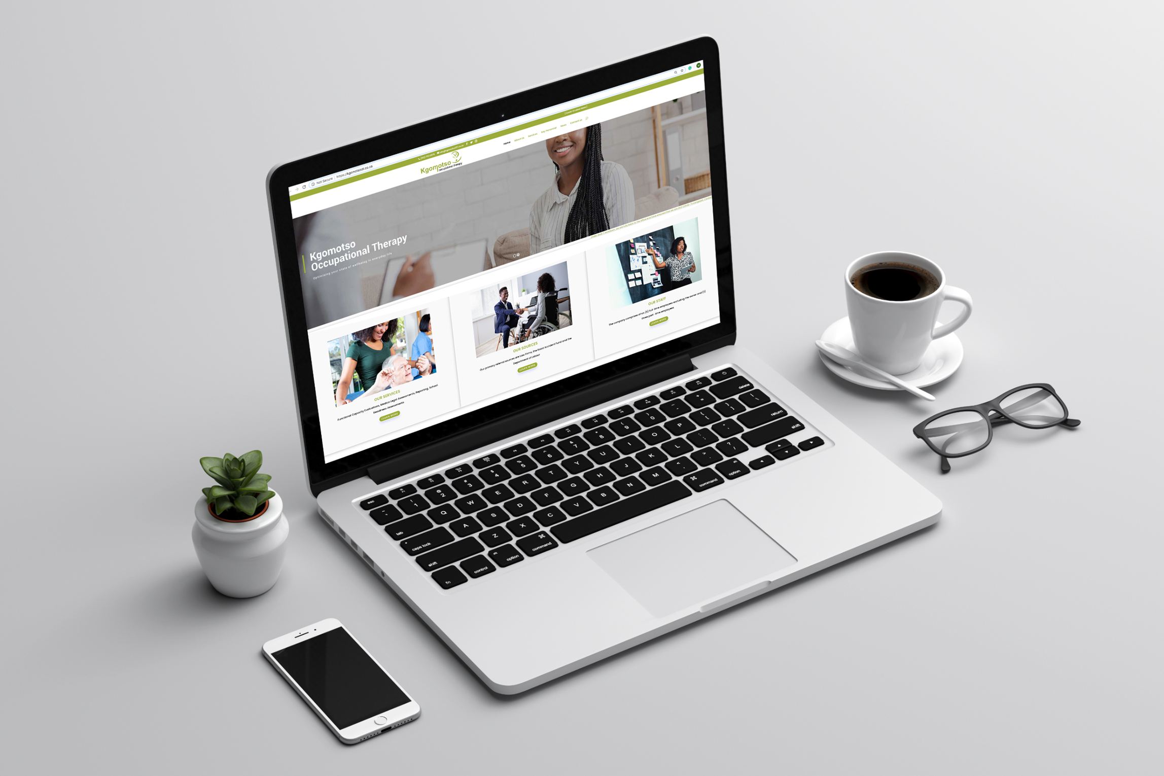 Kgomotso-Occupational-Therapy-website-on-laptop