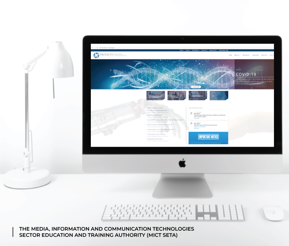The Media, Information and Communication Technologies Sector Education and Training Authority (MICT) Website