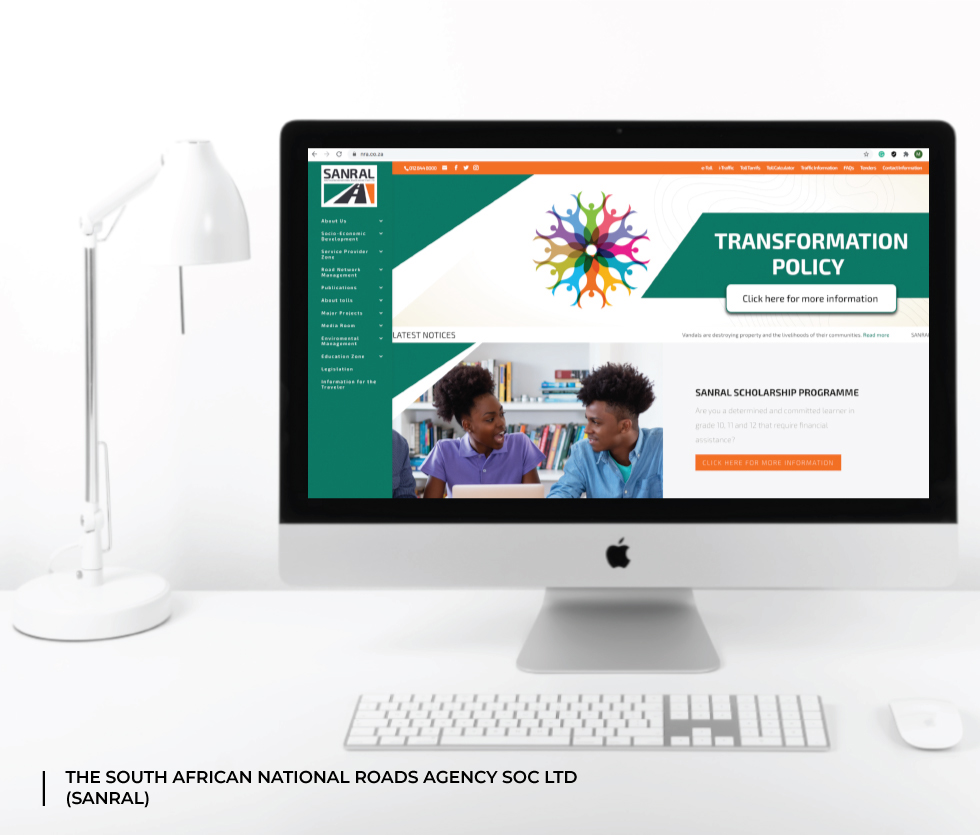 The South African National Roads Agency (SANRAL) Website