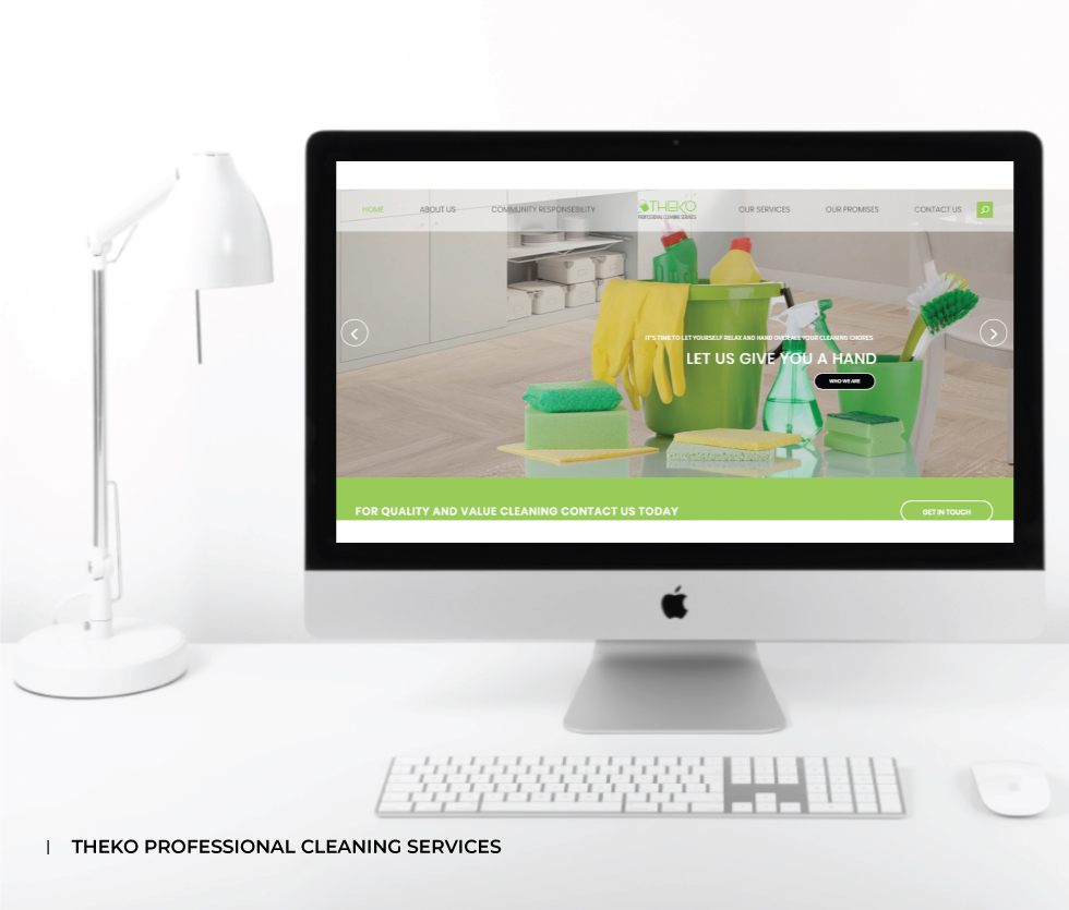 Theko Professional Cleaning Services Website